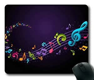 Lilyshouse Colorful Music Notes Background Rectangle Mouse Pad