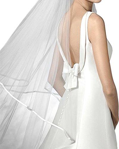 Milano Bride Einfach Rueckenfrei Hochzeitskleider Brautkleider Schleppe Schleife Brautmode Damen