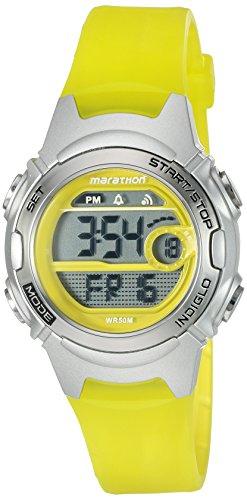 Marathon by Timex Women's TW5K96700 Digital Mid-Size Yellow/Gray Resin Strap Watch