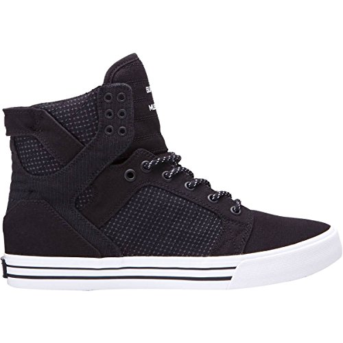 Supra Skytop Skate Shoe, Black/Dark Grey/White, 5 Regular US by Supra