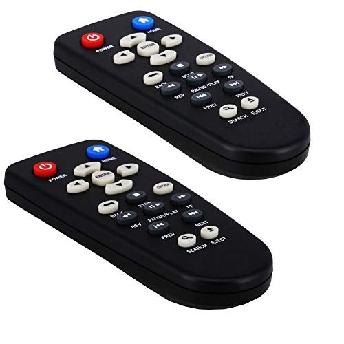 OMAIC Remote Control For WD All Versions Western Digital TV HD WDTV Media Player-2 Pack