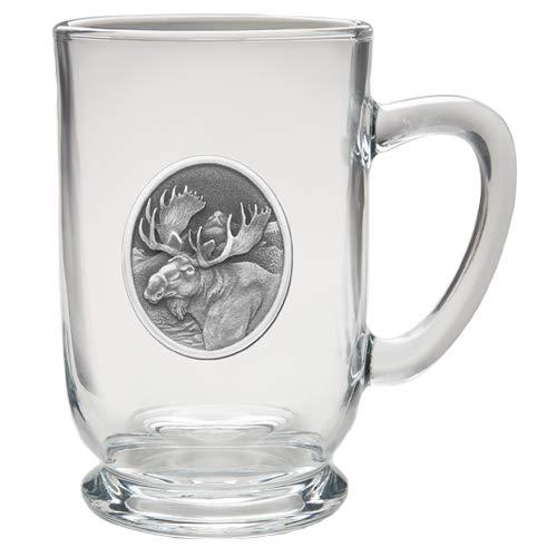 1pc, Pewter Moose Coffee Mug, Clear