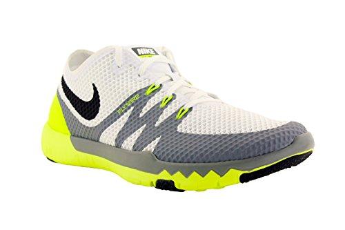 Nike Mens Free Trainer 3.0 V3 White/Cool Grey/Black 705270-100 Size 11.5