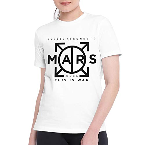 TAYLOR HOWELLS T Shirts for Women Vintage 30 Seconds to Mars Tshirt L White (30 Seconds To Mars Vintage T Shirt)