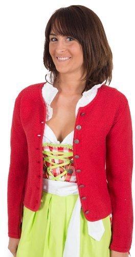 Trachten Jacke , rot, Trachtenjacke, Dirndljacke, Dirndl-Jacke,Trachten Janker für Damen Größe 44
