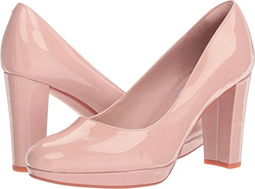 Clarks Women's Kendra Sienna Pump,Nude Patent Leather,US 10 M