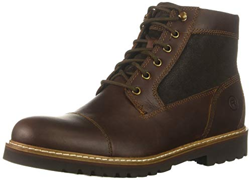Rockport Men's Marshall Rugged Cap Toe Boot, saddle brown, 10 M US ()