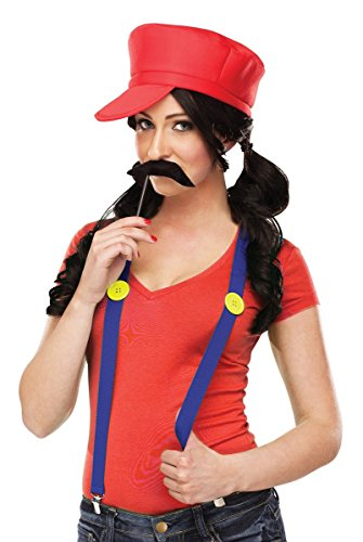 Video Game Gal Insant Costume Kit - Red Green (Red)