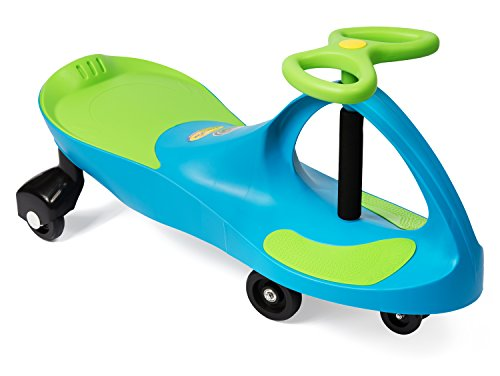 (Plasmart Aqua Blue/Lime Green Plasma Car Ride On)