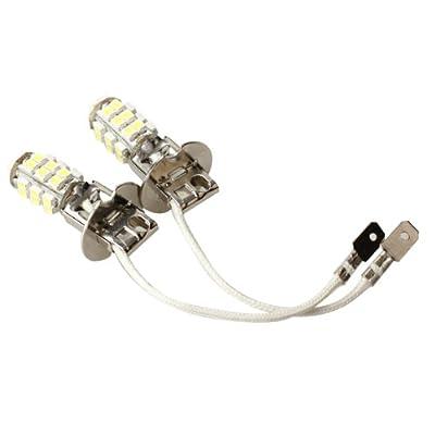 Whitelotous 2X H3 12V Constant Current Pure White LED Car Light Backup Bulb Front Fog Lamp