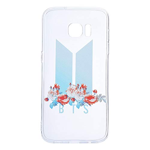 Youyouchard BTS Kpop Bangtan Boys Love Yourself Phone Case Protection for Samsung iPhone J A with A Anti-Radiation Sticker(Samsung S7 Edge Transparent)