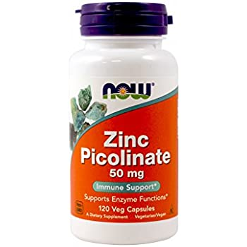 NOW  Zinc Picolinate 50mg,120 Capsules  (Pack of 2)
