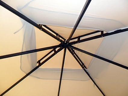 Completo di 4 Zanzariere e 4 Teli Laterali BAKAJI Gazebo da Giardino Struttura in Alluminio con Copertura Telo 400 gr//mq con Spalmatura Anti-UV Antipioggia 3 X 3 MT