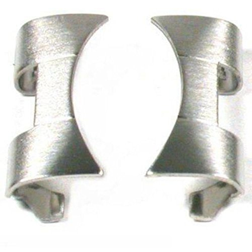 2 Watch Band End Caps Parts Links Steel White Tips 20mm