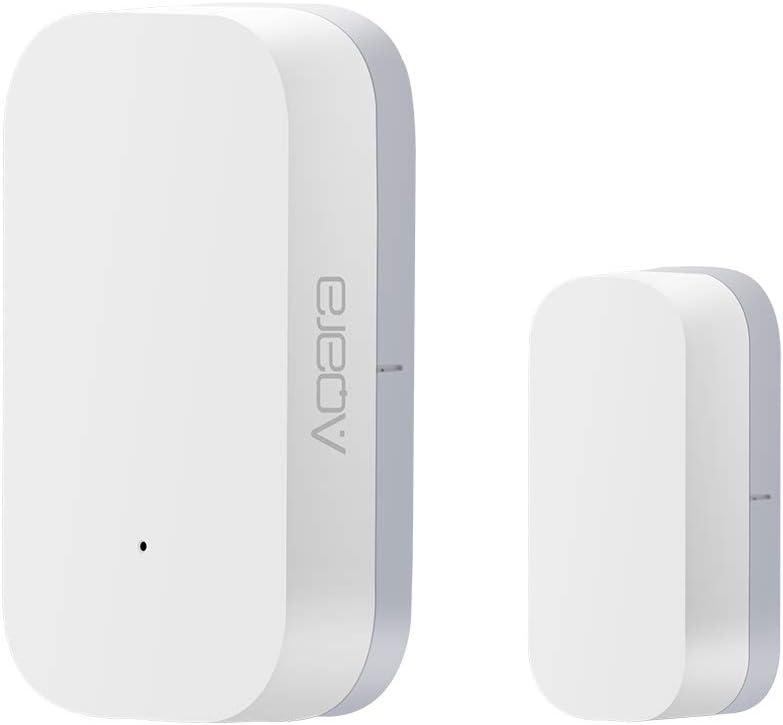 Détecteur Porte et de fenêtre, capteur de Porte de fenêtre Aqara, Connexion sans Fil Intelligente Zigbee, kit domotique Intelligent d'alerte Multifonction Compatible avec l'application Apple HomeKit