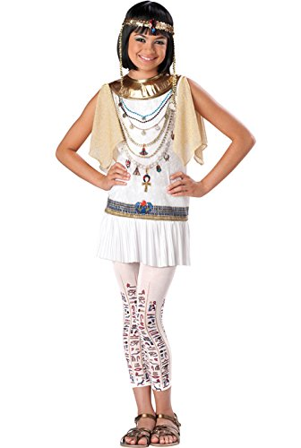 (InCharacter Costumes Girl's Cleo Cutie Cleopatra Costume, White/Gold,)