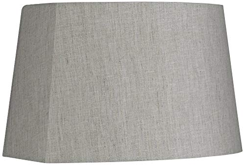 (Gray Modified Oval Lamp Shade 10/12.5x11/15x10)
