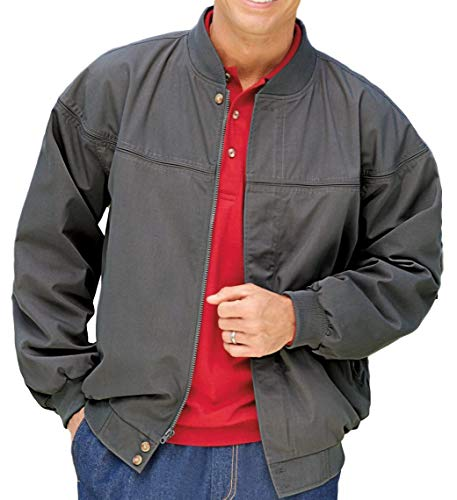 Men's Padded Poplin Shell Nylon Lined La Paz Jacket (Grey, ()