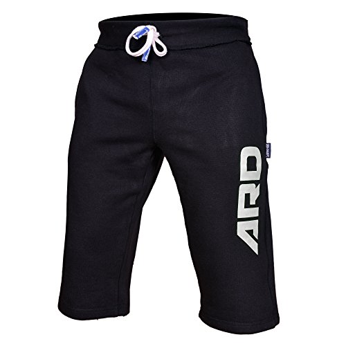 Price comparison product image Mens Cotton Fleece Shorts Jogging Casual Home Wear MMA Boxing Jogger (S-xxl) (Black, Medium)