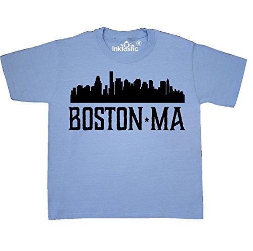 Boston Kids T-shirt - inktastic - Boston Massachusetts Youth T-Shirt Youth Small (6-8) Light Blue