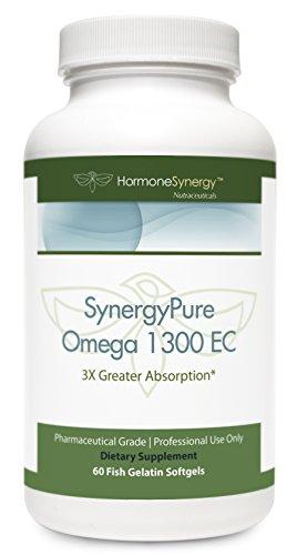 SynergyPure Omega | 1300 EC Fish Oil | 60 Enteric Coated Softgels | 3Xs Greater Absorption* | MaxSimil monoglyceride fish oil | Includes free eBooks