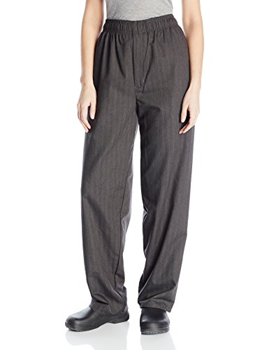 Uncommon Threads Unisex Yarn Dyed Baggy Chef Pant, Grey Gabardine, Medium ()