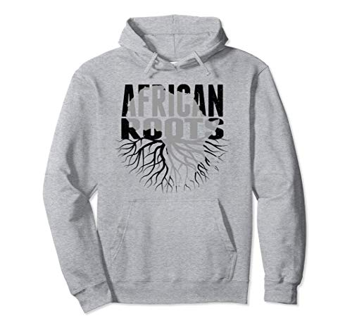 Unisex African Roots Hoodie African American Pride Clothing XL Heather Grey