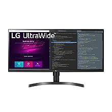 "LG 34WN750 Monitor 34"" QuadHD UltraWide 21:9 LED IPS HDR, 3440x1440, Radeon FreeSync 75Hz, Audio Stereo 14W, 2X HDMI, 1x Display Port 1.4, 3X USB 3.0, Altura Ajustable, Flicker Safe, Negro"