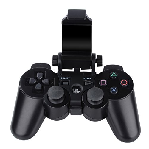 PS3 Controller Android Phone Mount, Megadream 180 Degree Adjustable Android Smartphone Game Clip Bracket Holder for Playstation PS3, Samsung Galaxy, HTC One, LG, Sony Xperia, Moto with D-pad Cap