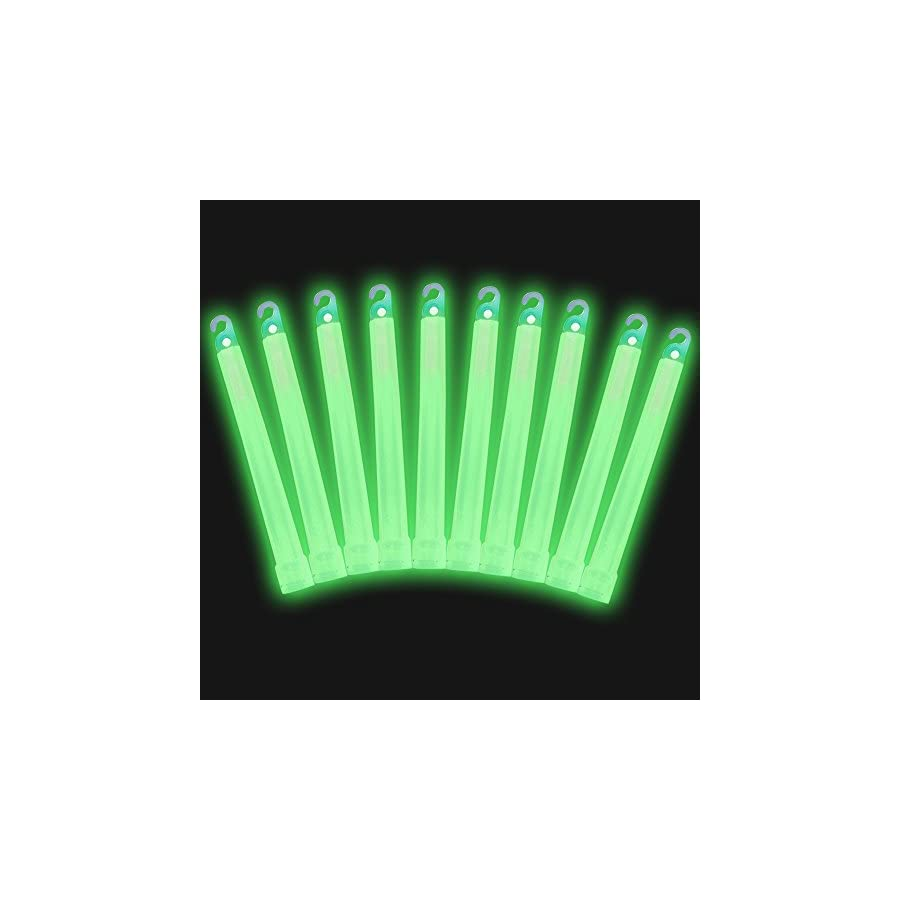 """6"""" Industrial Grade Glow Sticks, Ultra Bright, Longer Lasting Emergency Light Sticks with +12 Hours Duration, Easy Snap and Non Toxic"""