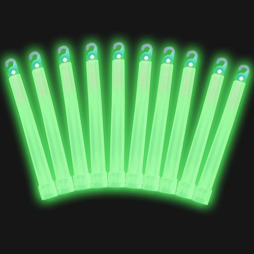 "6"" Industrial Grade Glow Sticks, Ultra Bright, Longer Lasting Emergency Light Sticks with +12 Hours Duration, Easy Snap and Non Toxic"