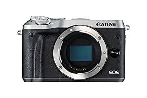 Canon EOS M6 - Cámara EVIL de 24.2 MP (pantalla táctil de 3.0'', DIGIC 7, NFC, Dual Pixel CMOS AF, Bluetooth, 5 - Axis Digital IS, Full HD, WiFi) plata - solo cuerpo