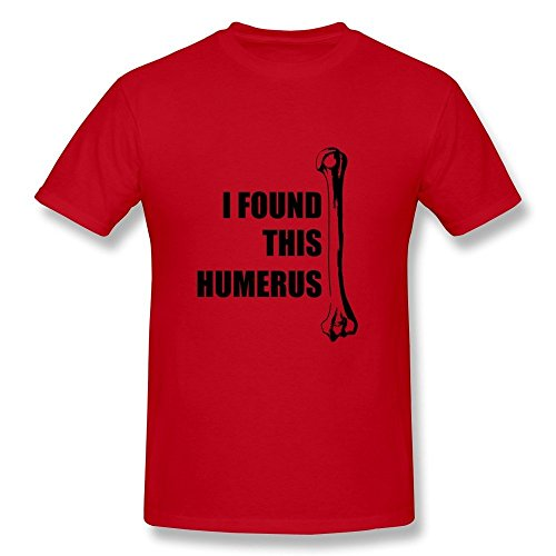 Price comparison product image HD-Print New Design Humerus T-shirt For Man Red Size S