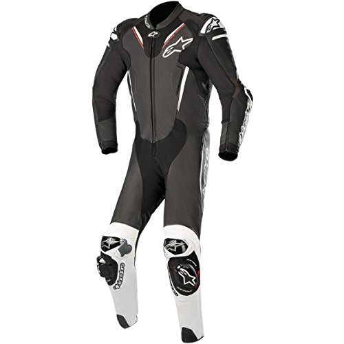 Alpinestars Atem V3 Men's 1-Piece Street Race Suits - Black/White / 50 by Alpinestars
