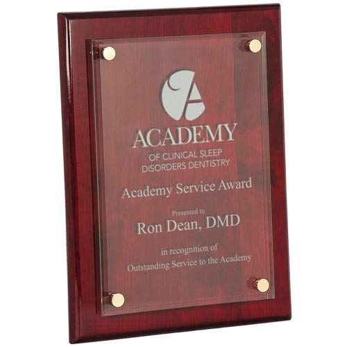 Corporate Recognition Awards - Personalized Wood Acrylic Plaque Award, 8X10, Gloss Finish, Trophy Plaque, Achievement Award, Sports Award, Retirement Plaque, Graduation Award, Engraved Plaque, Corporate Employee Recognition Plaque
