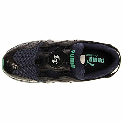 Puma Selezionare Casa di Hackney per Puma Basket Classic Sneaker Denim-Black-Electric Green