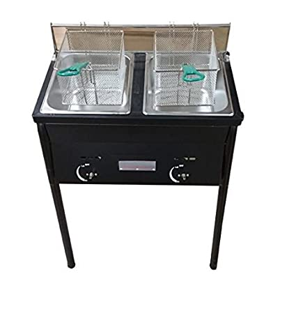 Amazon.com: Chefspark Outdoor Two Tank Fryer, 2 Baskets & Stainless ...