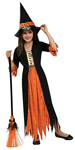 Cheap Halloween Outfit (Rubies Child's Gothic Witch Costume, Large)