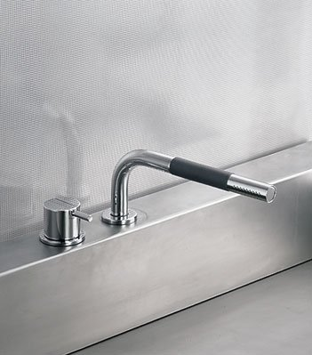 Vola 500T1-16 Kitchen Handspray with One-Handle Deck-Mounted Mixer Use in Combination with Kitchen Faucets (2.2 gpm) with Standard - (Vola Mixer)