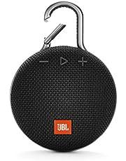 JBL Clip 3 – Enceinte Bluetooth Portable avec Mousqueton – Étanchéité IPX7 – Autonomie 10hrs – Qualité Audio JBL – Bluetooth, Noir
