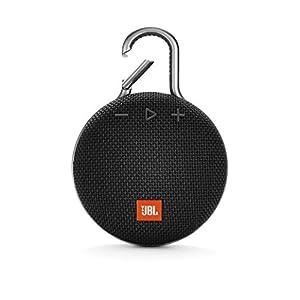 JBL Clip 3 – Enceinte Bluetooth portable avec mousqueton – Étanchéité IPX7 – Autonomie 10hrs – Qualité audio JBL – Noir