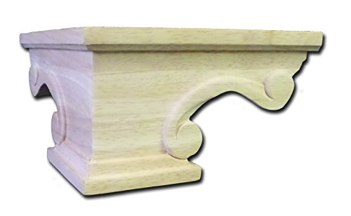 (Scroll Pedestal Foot Corner, Rubberwood - by Castlewood)
