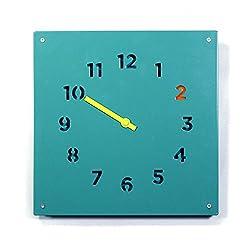 Block Steel Wall Clock, Blue