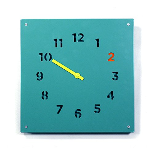 Block Steel Wall Clock, Blue