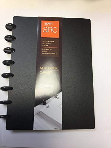 Staples Arc Customizable Notebook System 9 x 6.5 IN (black)