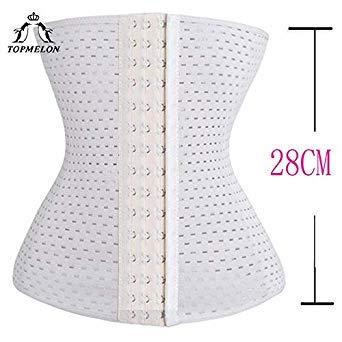 42b2b98551 Uniqus TOPMELON Cincher Slimming Belt Waist Trainer Steel Boned Waist  Shaper Hollow Out Breathable Belly Control