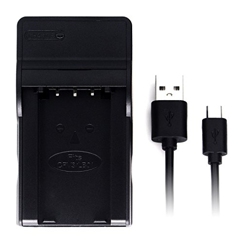 CR-V3 Ultra Slim USB Charger for Olympus C-100, C-120, C-150, C-160, C-170, C-180, C-2, C-21, C-730, C-740, C-750, D-370, D-380, D-390, D-510, D-530, D-560, E-20, FE-110, FE-120, SP-500 and (Crv3 Charger)