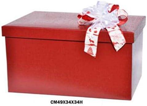 Caja decorativa para empaquetar regalos, con tapa (sin lazo), de ...