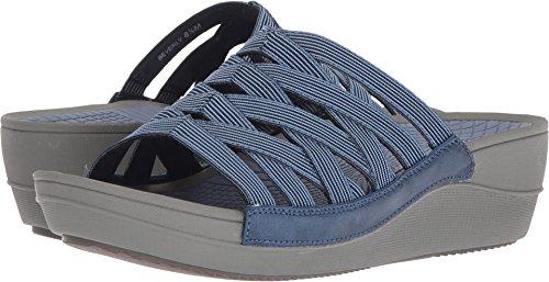 BareTraps Women's Beverly Slide Sandal, Denim, 7 Medium (Athletic Denim Sandals)