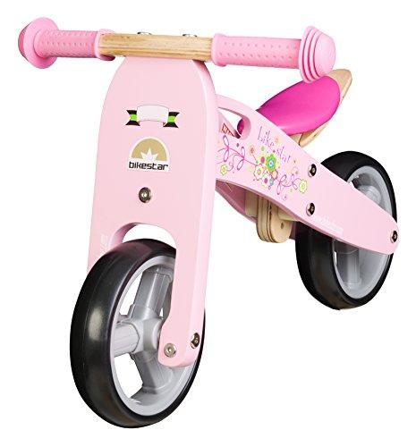 BIKESTAR-178cm-7-pulgadas-Bicicleta-sin-pedales-para-los-mas-pequeos-de-la-casa-a-partir-de-18-meses–Edicin-de-madera-natural–Rosa